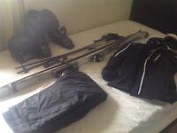 Men's Salamon skis 164cm Salamon boots,helmet poles Jacket and Trousers