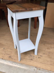 Bright and beautiful refinished plant stands or end tables!