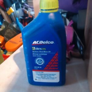 AC Delco Motor Oil - SAE 0W-20 Synthetic Blend Oil - Qty 4