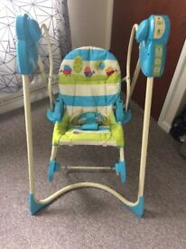 Baby fisher price swing and rocker