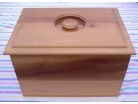 BREAD BIN or BOX - WOODEN TULIPWOOD - Willing to post, see details