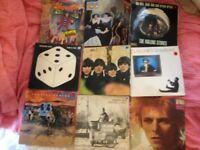 big joblot of 800 mainly rock lp's these are actually in east london not bedford