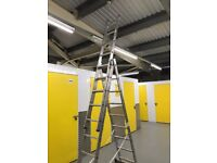 Aluminium 3 Section Extension / Combination ladder Ladder with STABILISER BAR
