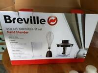 Breville Stainless Steel hand blender set - New and unused
