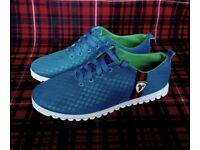 VERY RARE UNIQUE BREATHABLE TRAINERS IN SIZE 9, BLUE,BRAND NEW