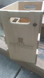 Konzelmann estate winery wood crate
