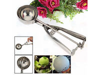 Stainless Steel 6cm Scoop for Ice Cream Potato Mash Food Spoon Kitchen Tool