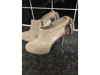 Suede Ankle Boots ( size 7 )