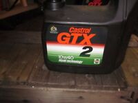 CASTROL GTX2 10W/40 LIQUID TECHNOLOGY ENGINE OIL 2.5 LITRES, BRAND NEW & UNOPENED