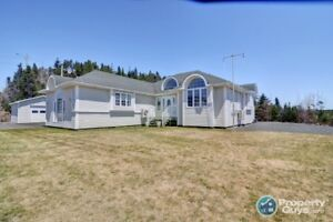 Stunning 1 level home with views of the ocean!
