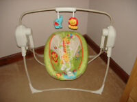Fisher Price Rainforest Space Saver Cradle & Swing