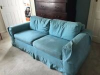 2/3 seater large SOFA BED (converts to double bed) with loose covers