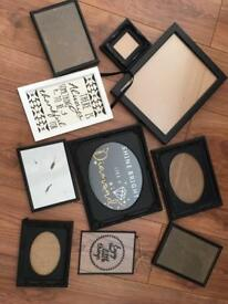 Black photo frame and print bundle