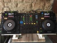 Pioneer cdj 900 x2 and Djm 800 mixer