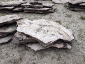 Natural rock stepping stones
