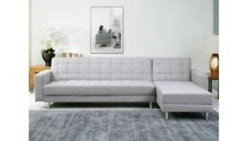 ITALIAN FABRIC LUKAS CORNER SOFA BED WITH INTERCHANGING CHAISE!!!!! 50%OFF