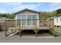Platinum Standard 6 berth static caravan to hire at Lydstep Beach Tenby