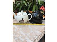 Vintage Dandy Lines Duck Teapot & Black Tea pot set