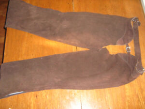 Brown Suede Women's Large Western Chaps