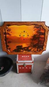 Wooden picture clock for sale