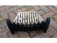 """Cast iron fire grate 3 parts - 14.5"""" wide, 9.5"""" deep, 8.25"""" high"""