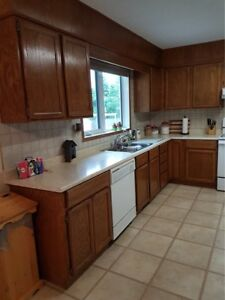 Oak cabinets for sale - REDUCED!