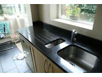 Kitchen Star Galaxy Granite Tops (black with copper and bronze flecks)
