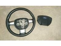 04-10 Ford focus mk2 3 spoke steering wheel and airbag