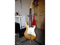 Yamaha 112J Electric Guitar - Natural Satin + gig bag