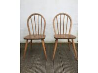 Pair of vintage Ercol dining chair