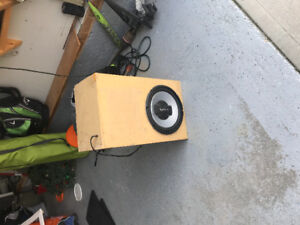 Sub and amp 50$ today