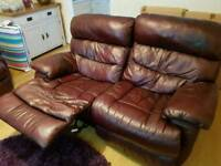 2 x 2 seater reclining sofas