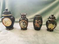 Set of 4 Japanese small vases & pots
