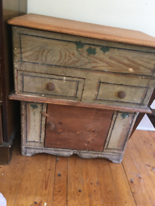 Antique pine commode