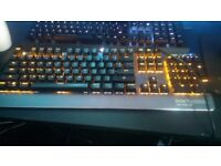 One-up Mechanical Keyboard w/ ORANGE backlighting