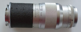 Leitz Leica 135mm f4.5 Hektor M-bayonet lens, in fitted leather case. Free post!