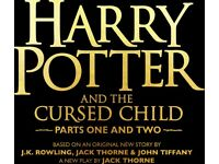 Harry Potter and the Cursed Child tickets August 5th Part 1& 2