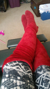 BRAND NEW Red Thigh High Size 7 High Heel Boot $25