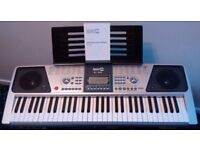 Like New Electronic Keyboard with Stand, Stool, Headphones and Music Books