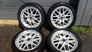 "Nice ASA 17"" rims with Fuzion summer tires"