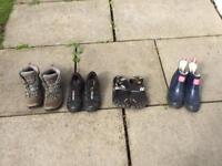 Walking boots, trail shoes and wellibobs