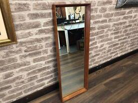 Teak Framed Mirror