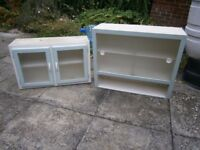 Retro 1950s kitchen wall cupboards.