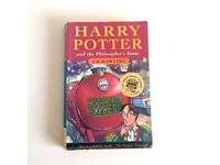 Harry Potter 1st edition book