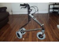 DISABILITY 3 WHEELED WALKER IN CHROME