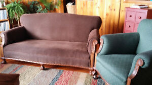 Victorian love seat and chair