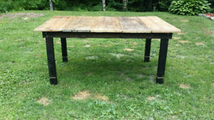 Reclaimed wood harvest table