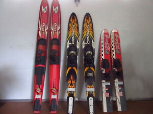 Water Skis - 3 pairs Excel/O'Brien/Mercury