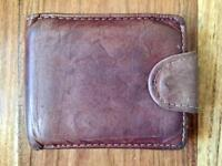 High quality real leather brown wallet