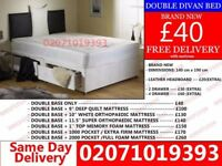 Brand New Double Divan Bed Available with Mattress Big Pine Key